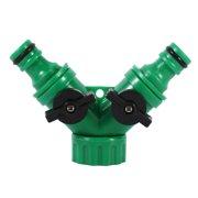 FAGINEY 1Pcs 2-Way Adapter Y Connector Adaptor Switch Garden Watering Drip Irrigation Hose Pipe 3/4