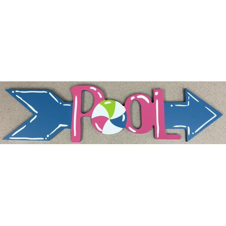 Swimming Pool Arrow Hanging Wall Sign Plaque Outdoor Home Decoration Ball - Pool Decorations
