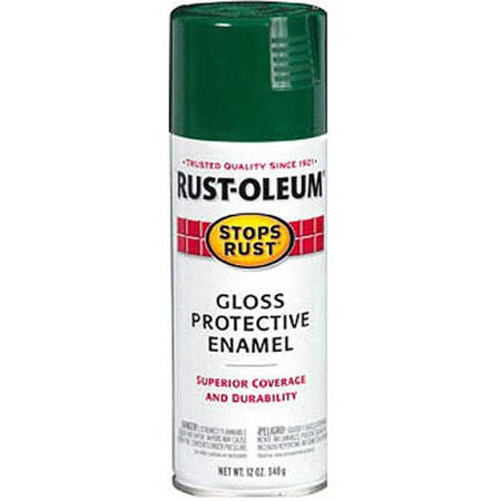 (3 Pack) Rust-Oleum Stops Rust Gloss Protective Enamel Hunter Green Spray Paint, 12 oz