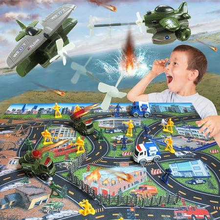 LeKing Équipe spéciale artillerie inertielle missile voiture éjection avion homme manette de jeu jouet 31 ensembles - image 3 de 9