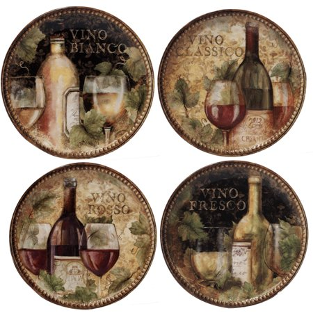 Certified International Tableware (Certified International  Gilded Wine Salad/Dessert Plates (Pack of 4) )