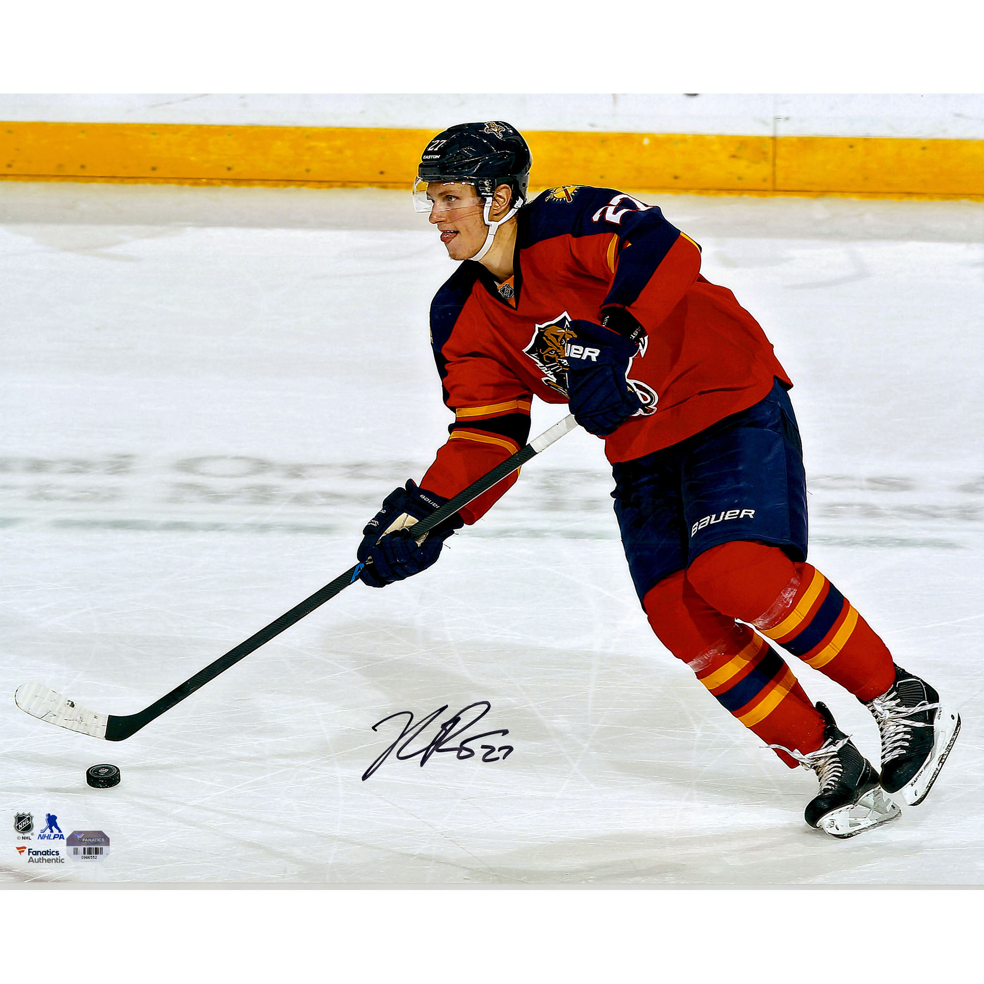 """Nick Bjugstad Florida Panthers Fanatics Authentic Autographed 16"""" x 20"""" Red Jersey Skating With Puck Photograph - No Size"""