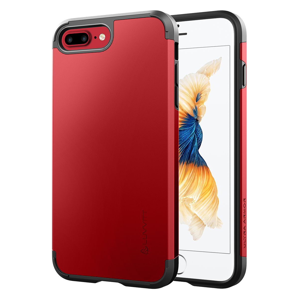 Luvvitt Ultra Armor iPhone 7 Plus / iPhone 8 Plus Case with Dual Layer Heavy Duty Protection and Air Bounce Technology for Apple iPhone 7 Plus (2016) /  iPhone 8 Plus (2017)