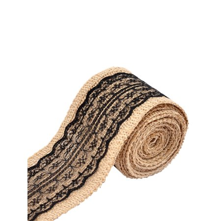 2.2 Yards Wedding Lace Decor DIY Handcraft Burlap Ribbon Strap Rope Roll