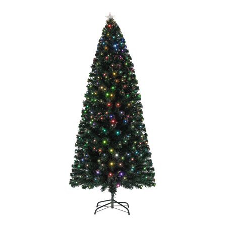 holiday time pre lit fiber optic artificial christmas tree multicolor 4 ft