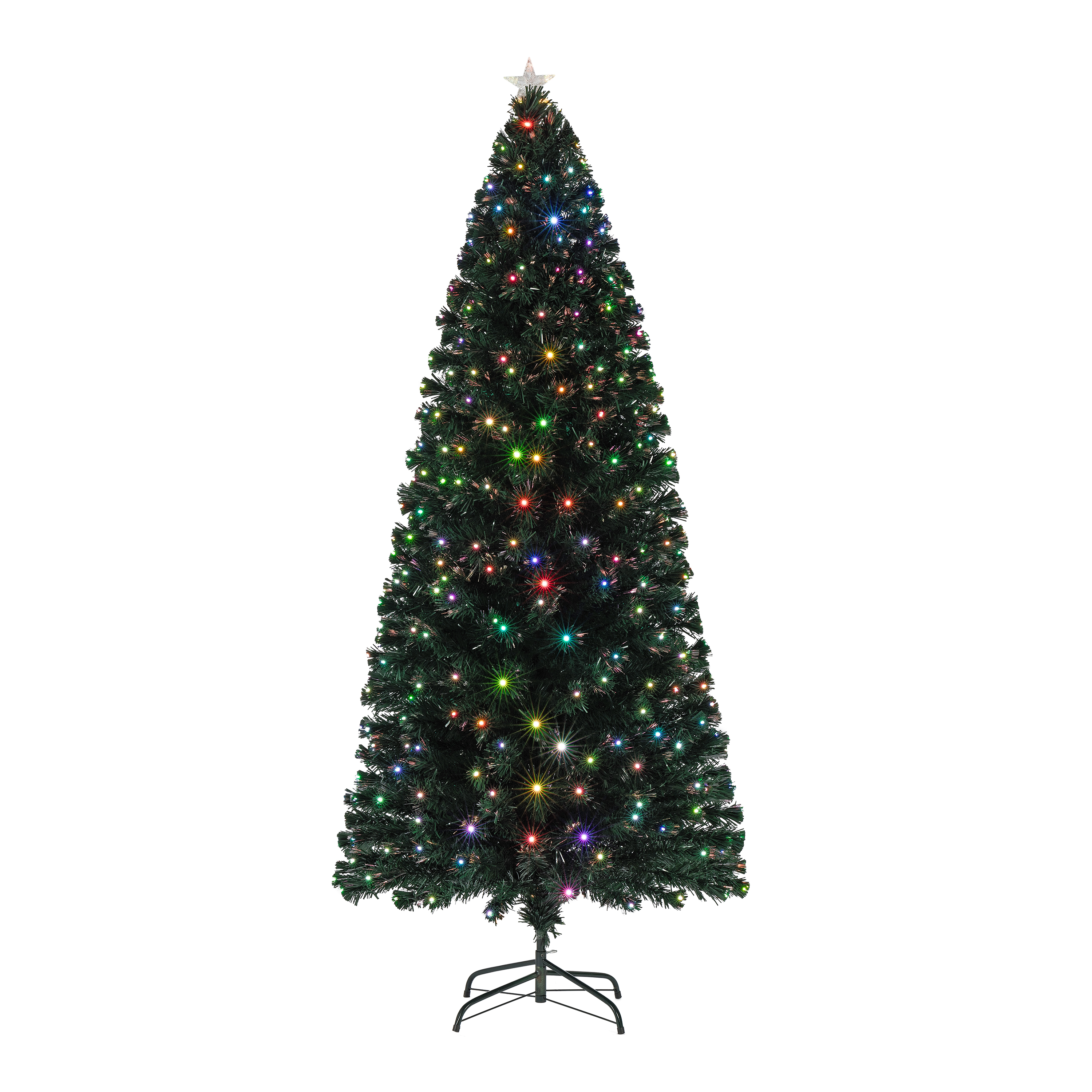Holiday Time Pre-Lit Fiber Optic Artificial Christmas Tree, Multicolor, 6 ft.