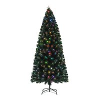 Holiday Time Pre-Lit Fiber Optic Artificial Christmas Tree, Multicolor, 7 ft.