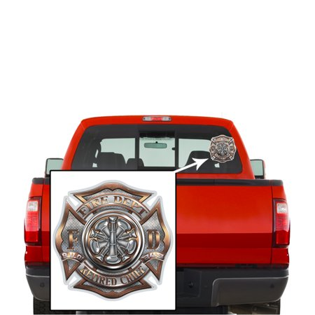 Firefighter Decals, Show Your Pride with our RETIRED Chief Patriotic Decals, Perfect for Your Kitchen, Car, Wall or Bike, Gifts for Firefighters - Walmart. ...