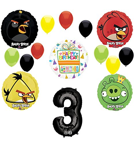 Num552 Backdrop Customized for Birthday Decor HoRmi Replacement for Angry Birds Party Decoration Supplies