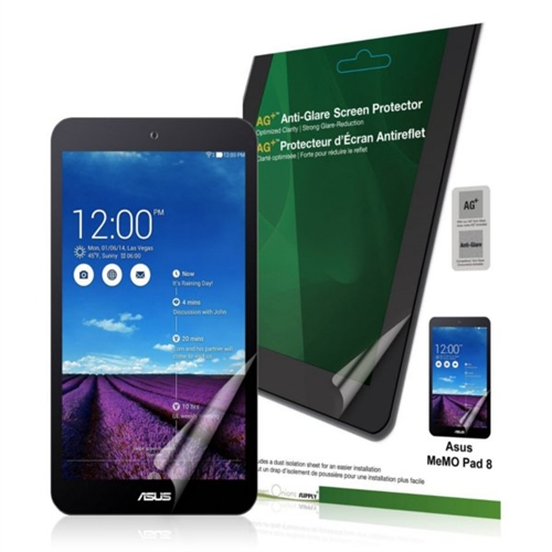 Green Onions Supply AG+ Anti-Glare Screen Protector for ASUS Memo Pad 8 RTSPASMPME181CX802HD