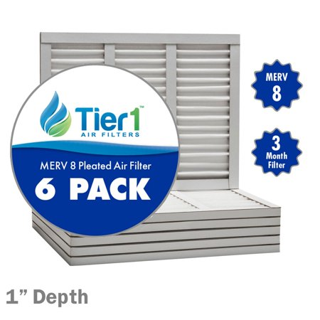 Merv 8 Pleated 1 Inch Furnace Ac Air Filter 6 Pack