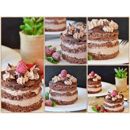 Chocolate Sour Cream Coffee Cake (Canvas Print Cake Coffee Time Tart Chocolate Tarts Cream Cake Stretched Canvas 10 x)