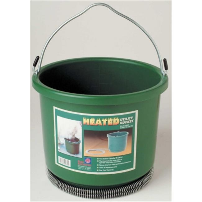 2 Gallon Heated Utility Bucket - Green  - HB-60
