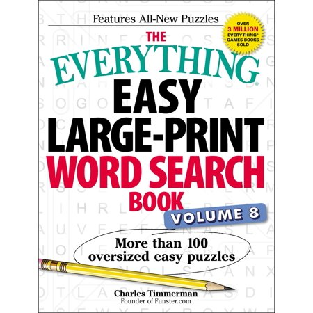 The Everything Easy Large-Print Word Search Book, Volume 8 : More Than 100 Oversized Easy Puzzles](Easy Halloween Word Search Puzzles)