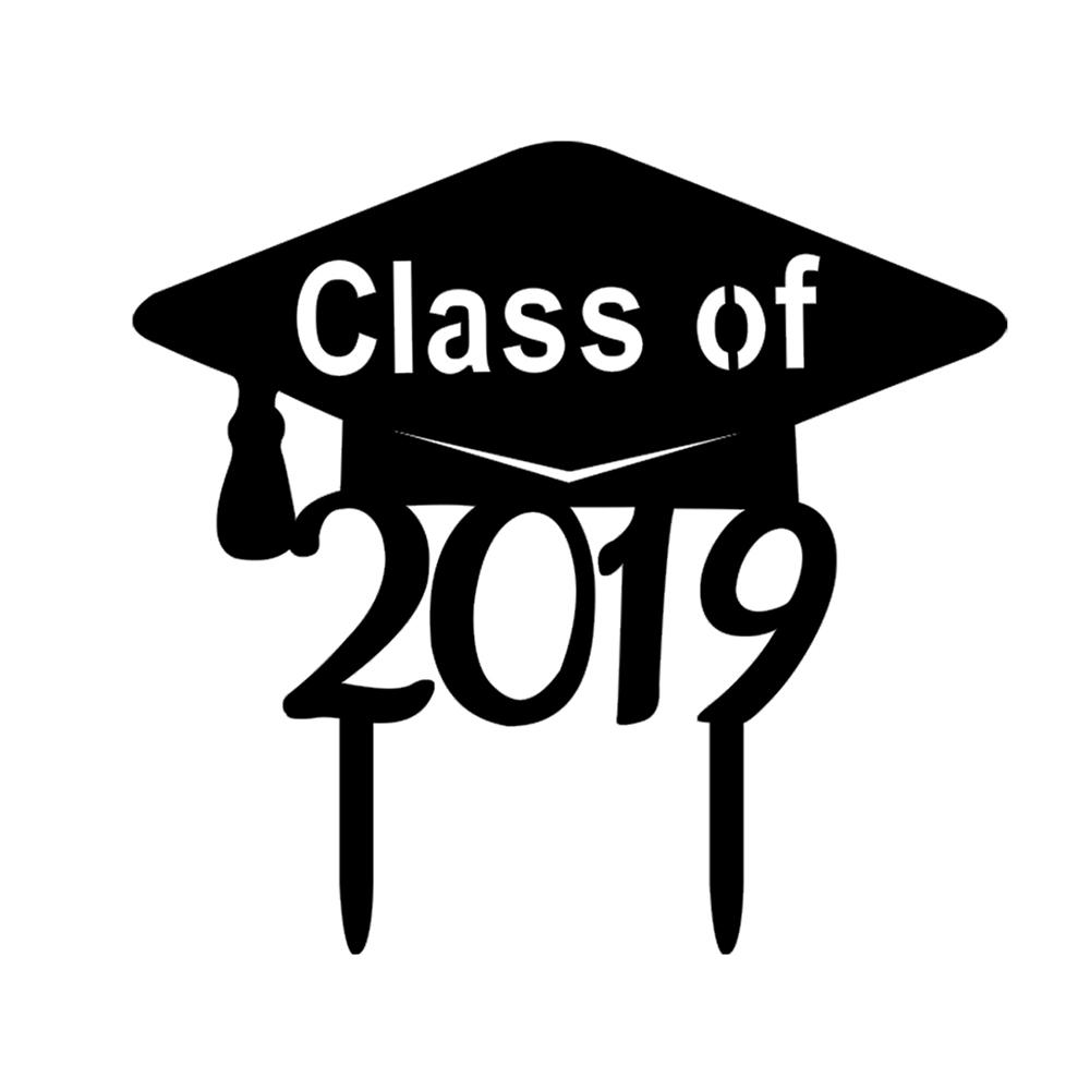 Class of 2019 cake topper Graduation party decor. Graduation cake topper