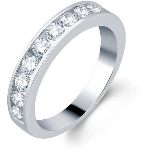 1.0 Carat T.W. Round Diamond 10kt White Gold Wedding Band, I-J I2-I3 by Generic
