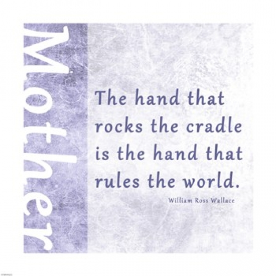 The Hand that Rocks the Cradle Poster Print by Veruca Salt (12 x 12)