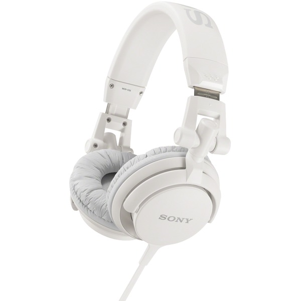 Sony MDR-V55 WHI Over-The-Head Padded Headphones, White by Sony