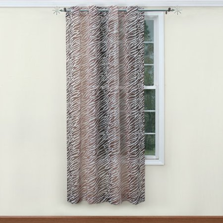 Belle maison safari printed girls bedroom curtain panel for Decoration maison walmart