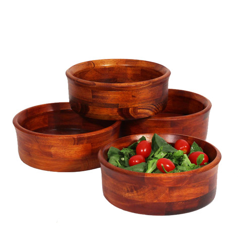 4 Pc Individual Cherry Finish Salad Bowl Set by Woodard and Charles