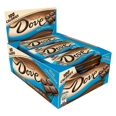 DOVE 100 Calories Milk Chocolate Candy Bars, 0.65 oz Single Bar