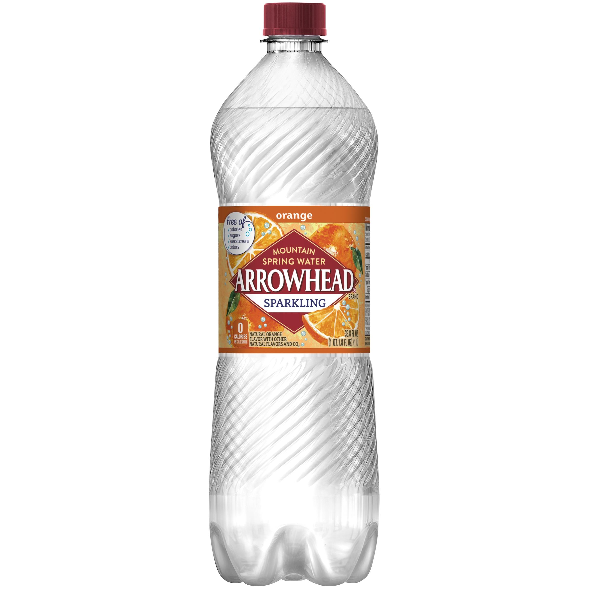 Arrowhead Orange Sparkling Water, 33.8 Fl. Oz.