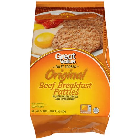Great Value Beef Breakfast Sausage, 22.4 oz