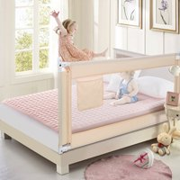 Toddler Bed Rail,70 inch Baby Safety Bed Rails for Queen King Twin Full Size Bed Beige Color
