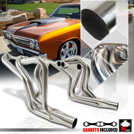 - SS Long Tube Exhaust Header Manifold for 70-87 Chevy SBC 267-400 Small Block V8 73 74 75 76 77 78 79 80 81 82 83 84 85 86
