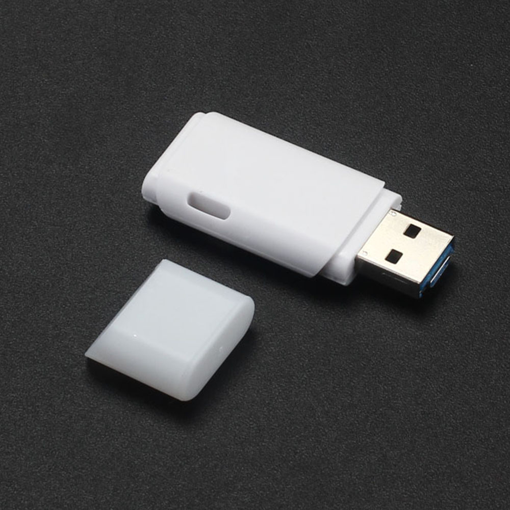 DZT1968 2 IN 1 USB 2.0 OTG Metal Flash Memory Stick Storage Thumb U Disk 32GB