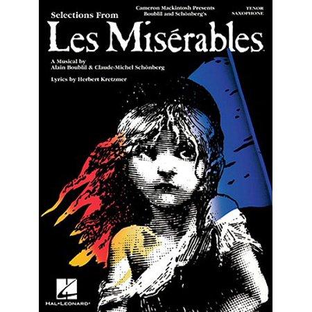 Les Miserables : Instrumental Solos for Tenor Sax