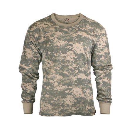 Kids Long Sleeve Camouflage T-shirt, ACU Digital Camo Acu Digital Camouflage T-shirt
