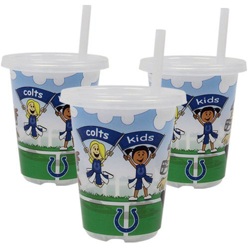 Indianapolis Colts NFL 10 oz Sip n Go Plastic Cups (Set of 3) BPA Free