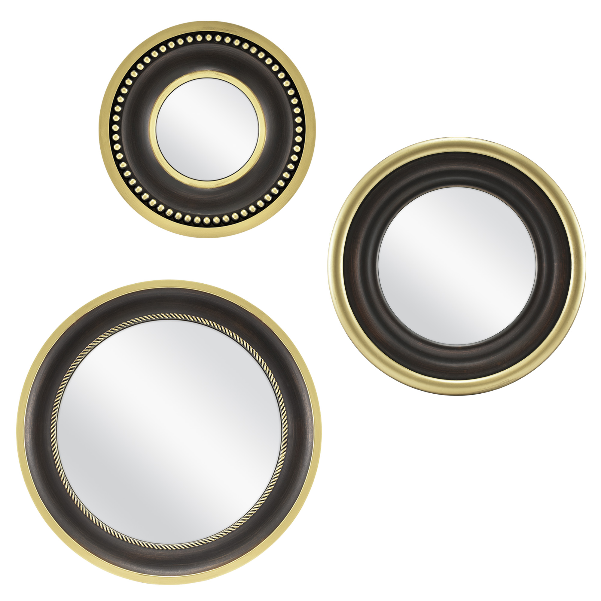 Mainstays 3-Piece Round Mirror Set, Bronze by MCS Industries, Inc.