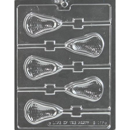Large Lacrosse Lollipop Chocolate Mold - S117 - Includes Melting & Chocolate Molding Instructions
