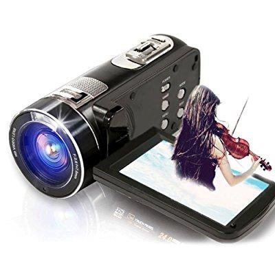 seree camcorder full hd 1080p 24.0 mp digital camera 18 digital zoom portable video recording (hdv-z8-fba)