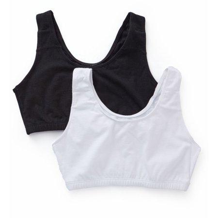 Women's Bestform BF203 Cotton Built Up Crop Bra - 2 Pack