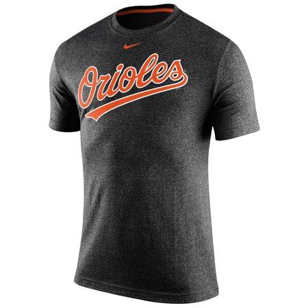 Men's Nike Black Baltimore Orioles Marled Logo T-Shirt ()