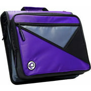 "Case It 2"" D-Ring Zipper Binder with 13"" Tablet Pouch, Purple, LT-007"