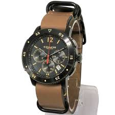 Coach Men's Bleecker Sport 44mm Black/Brown Watch