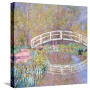 Bridge in Monet's Garden, 1895-96 Stretched Canvas Print Wall Art By Claude Monet