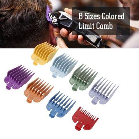 Ejoyous 8 tailles Color Limit Peigne Tondeuse Guide de Coupe de Cheveux Guide de Coupe Attachement, Peigne Taille, Peigne Limite de Cheveux, Peigne Taille - image 3 de 8