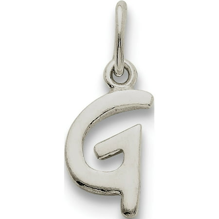 Initial 925 Silver Jewelry Pendant - Leslies Fine Jewelry Designer 925 Sterling Silver Initial G (7to8x13mm) Pendant Gift Box Included