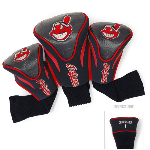 Team Golf MLB Cleveland Indians 3 Pack Contour Head Covers by Generic