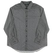 Perry Ellis Mens Big & Tall Floral Print Non-Iron Button-Down Shirt
