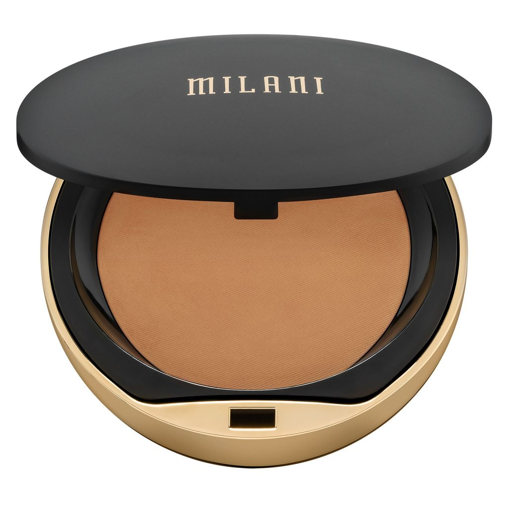 MILANI Conceal + Perfect Shine-Proof Powder, 08 Medium Deep, 0.43 oz