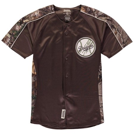Los Angeles Dodgers Stitches Youth Replica Jersey - Realtree Camo ... f543ece4f34