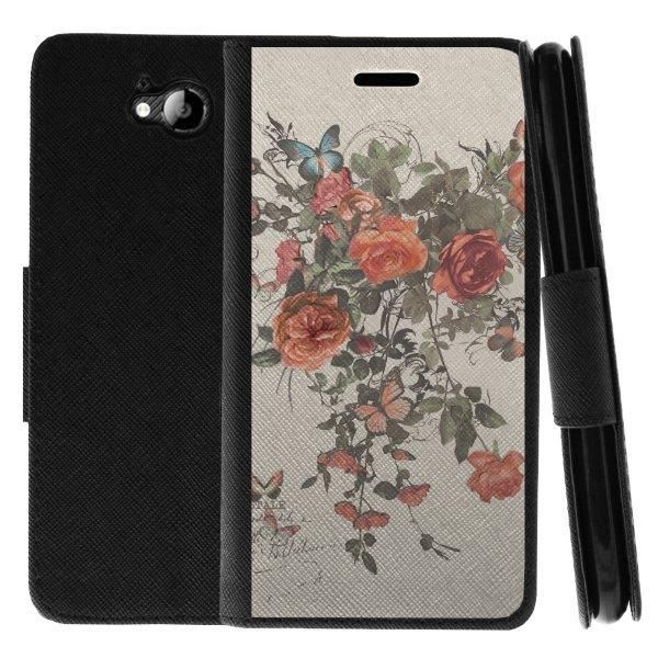 TurtleArmor ® | For ZTE Majesty Pro Z798BL, Z799VL [Wallet Case] Leather Cover with Flip Kickstand and Card Slots - Elegant Roses