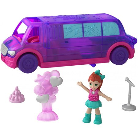 Polly Pocket Pollyville Party Limo with Lila Doll & Accessories