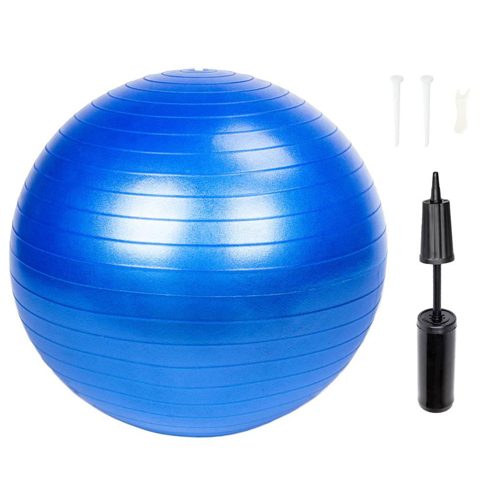 Ktaxon 55cm Yoga Ball Anti Burst Balance Trainer with Air Pump for Exercises Fitness Pilates Home Gym Workout